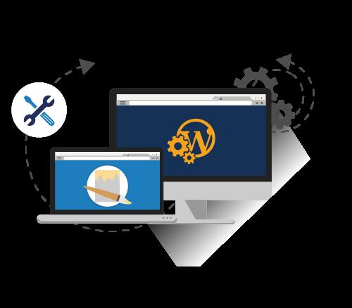 Wordpress Entwicklung Grafik