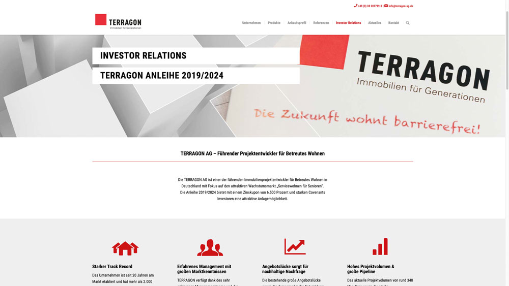 Terragon Investor-Relations-Bereich