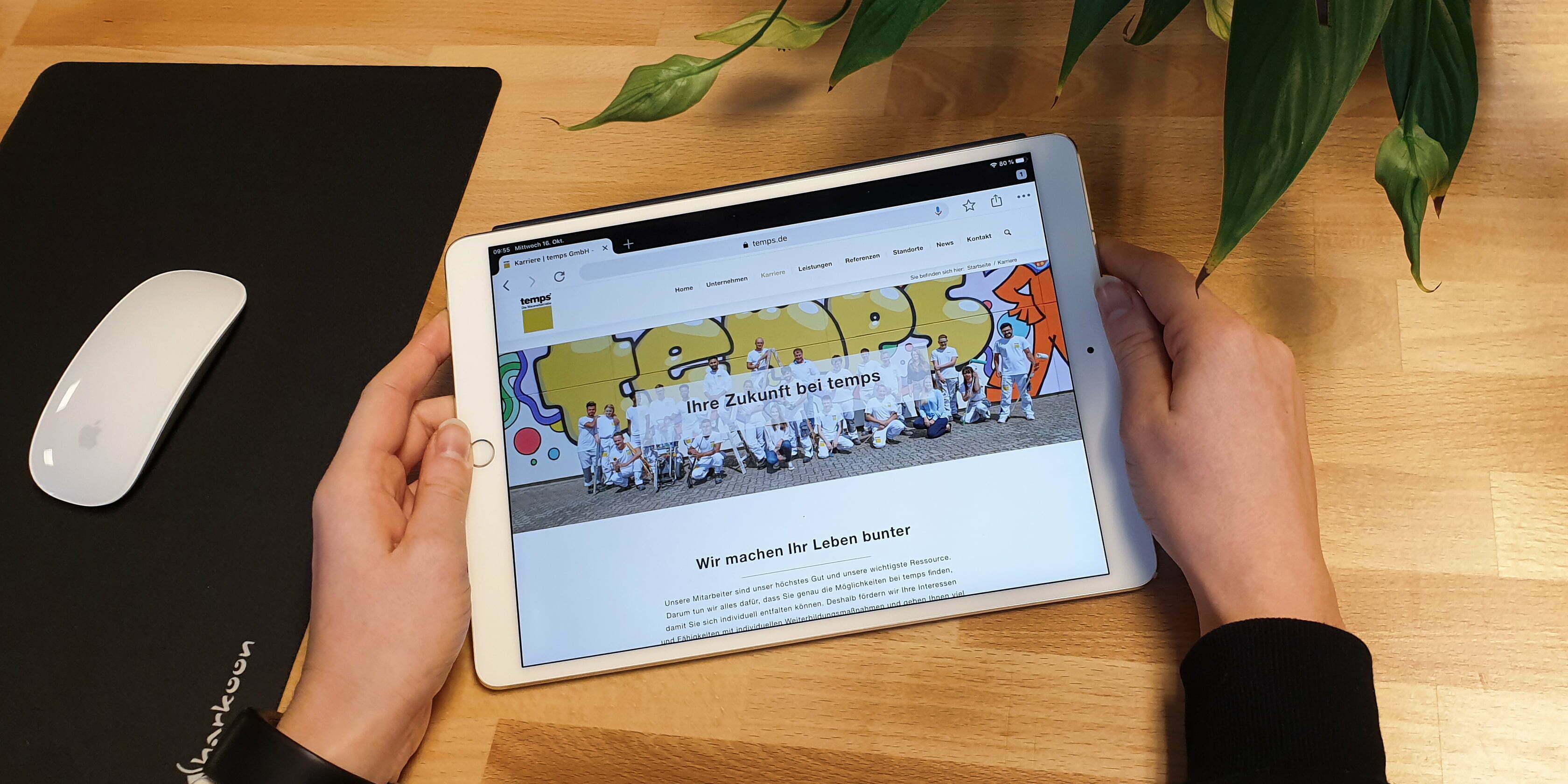 Temps GmbH Karriereseite